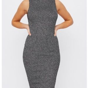 Dresses & Skirts - Grey knitted Ribbed dress